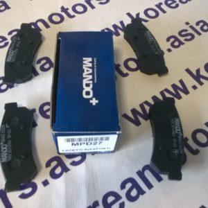 Колодки тормозные задние дисковые Daewoo Lacetti 06- 96800089