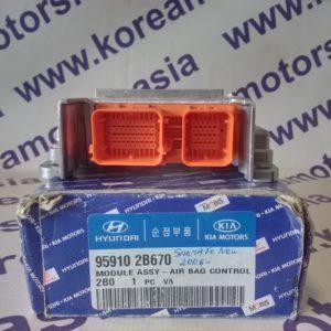 Блок управления подушками безопасности Hyundai Santa Fe New ** 959102B670